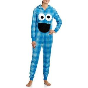 Plaid Cookie Monster Onesie